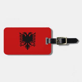 Flag of Albania Luggage Tag