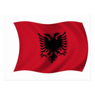 Flag of Albania Postcard