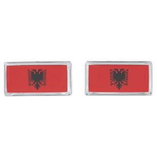 Flag of Albania Silver Finish Cufflinks