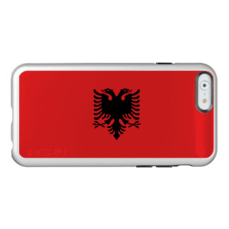 Flag of Albania Silver iPhone Case Incipio Feather® Shine iPhone 6 Case
