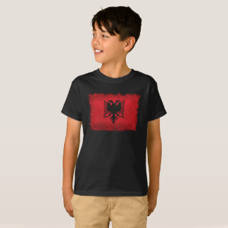 Flag of Albania Vintage Retro Style T-Shirt