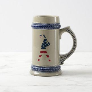 Flag of America Baseball American Beer Stein