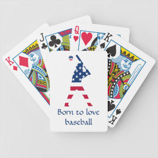 Flag of America Baseball American Bicycle Playing Cards