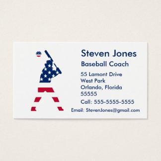 Flag of America Baseball American Business Card