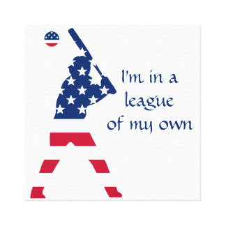 Flag of America Baseball American Canvas Print