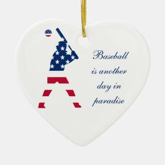 Flag of America Baseball American Ceramic Ornament