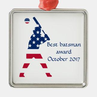 Flag of America Baseball American Metal Ornament