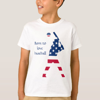 Flag of America Baseball American T-Shirt