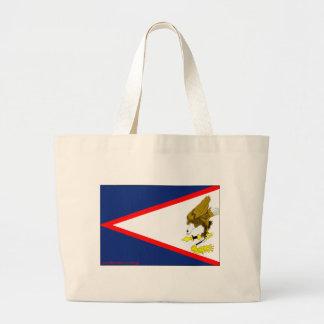 Flag of American Samoa Canvas Bags