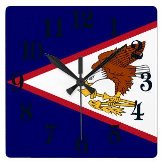 Flag of American Samoa Square Wall Clock