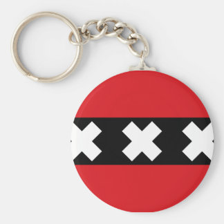 Flag of Amsterdam Key Ring
