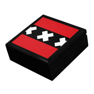Flag of Amsterdam Large Square Gift Box