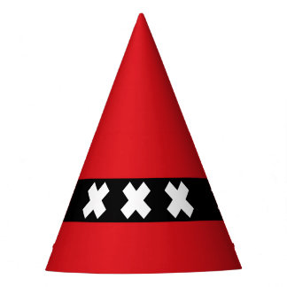 Flag of Amsterdam, Netherlands Party Hat