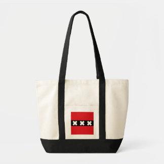 Flag of Amsterdam, Netherlands Tote Bag