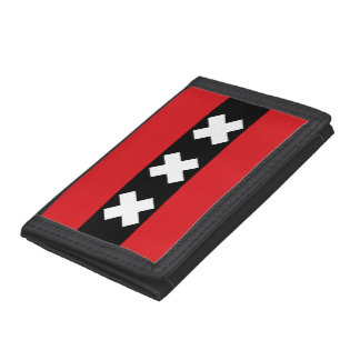 Flag of Amsterdam, Netherlands Tri-fold Wallet