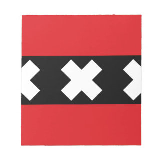 Flag of Amsterdam Notepad