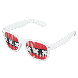 Flag of Amsterdam Retro Sunglasses