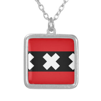 Flag of Amsterdam Silver Plated Necklace