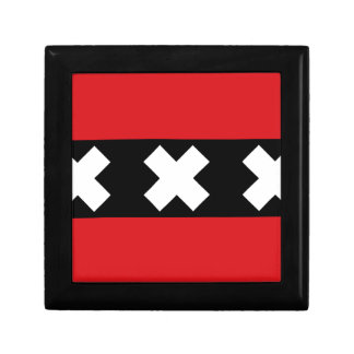 Flag of Amsterdam Small Square Gift Box