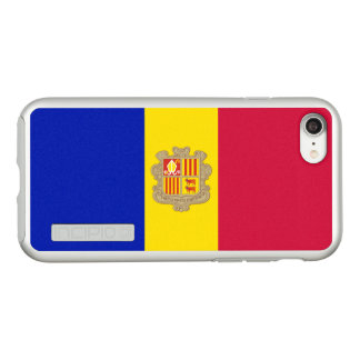 Flag of Andorra Silver iPhone Case