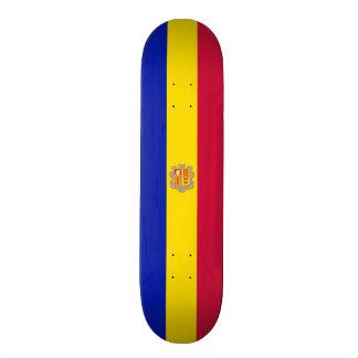 Flag of Andorra Skateboard Deck