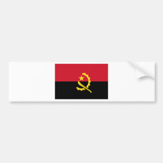 Flag of Angola - Bandeira de Angola Bumper Sticker