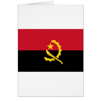Flag of Angola - Bandeira de Angola Card