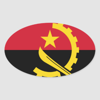 Flag of Angola - Bandeira de Angola Oval Sticker
