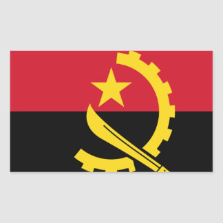 Flag of Angola - Bandeira de Angola Rectangular Sticker