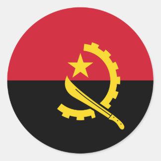 Flag of Angola - Bandeira de Angola Round Sticker