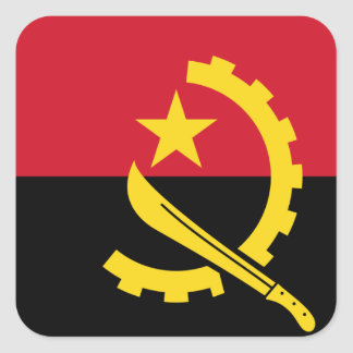 Flag of Angola - Bandeira de Angola Square Sticker