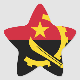 Flag of Angola - Bandeira de Angola Star Sticker