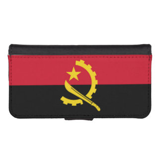 Flag of Angola iPhone SE/5/5s Wallet Case