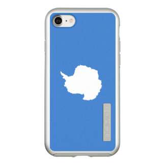 Flag of Antarctica Silver iPhone Case