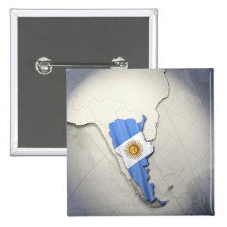 Flag of Argentina 15 Cm Square Badge