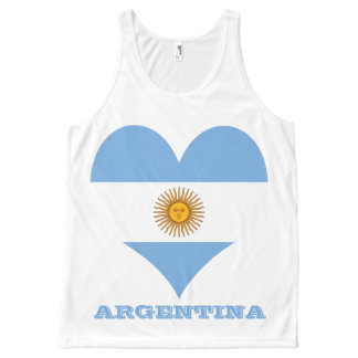 Flag of Argentina All-Over Print Singlet