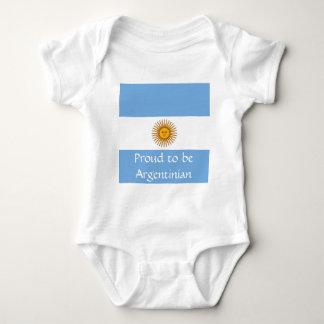 Flag of Argentina Baby Bodysuit