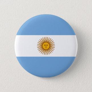 Flag of Argentina - Bandera de Argentina 6 Cm Round Badge