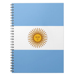 Flag of Argentina - Bandera de Argentina Notebooks