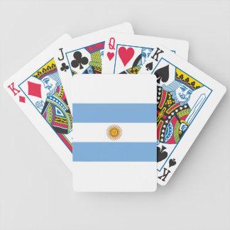 Flag of Argentina - Bandera de Argentina Poker Deck
