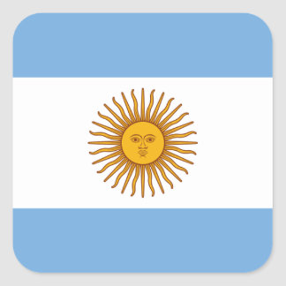 Flag of Argentina - Bandera de Argentina Square Sticker