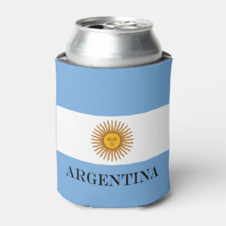 Flag of Argentina Can Cooler