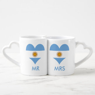 Flag of Argentina Coffee Mug Set