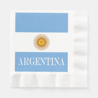 Flag of Argentina Disposable Napkin