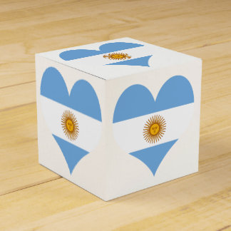 Flag of Argentina Favour Box