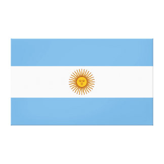 Flag of Argentina large Canvas Print