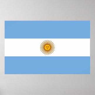 Flag of Argentina large Poster