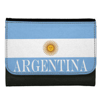 Flag of Argentina Leather Wallet For Women