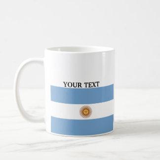 Flag of Argentina Basic White Mug