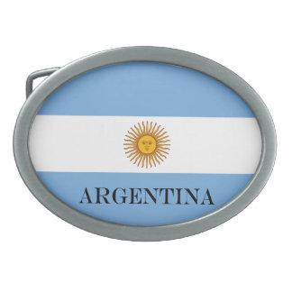 Flag of Argentina Oval Belt Buckle